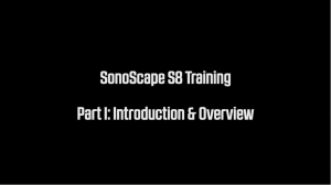 SonoScape S8 applications training part 1