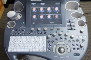 Voluson e8 HDlive 4D ultrasound machine keyboard