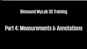 MyLab 30 Measurements and Annotations Training