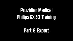 USB and DICOM Export on the Philips CX50 Portable Ultrasound Machine