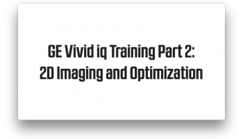 Image Optimization with GE Vivid iq